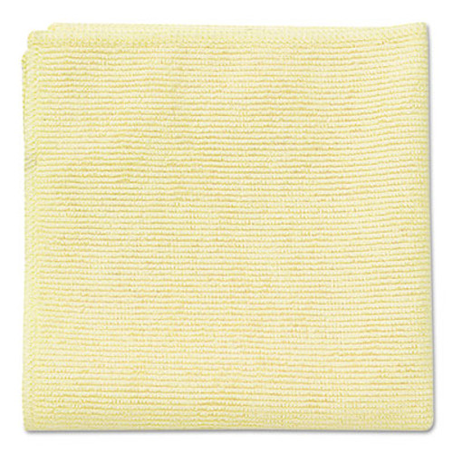 Rubbermaid Commercial Microfiber Cleaning Cloths, 16 x 16, Yellow, 24/Pack (RCP 1820584)