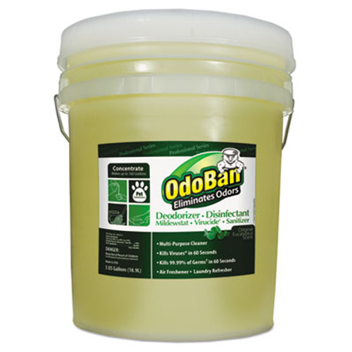 OdoBan Concentrated Odor Eliminator and Disinfectant  Eucalyptus  5 gal Pail (ODO9110625G)