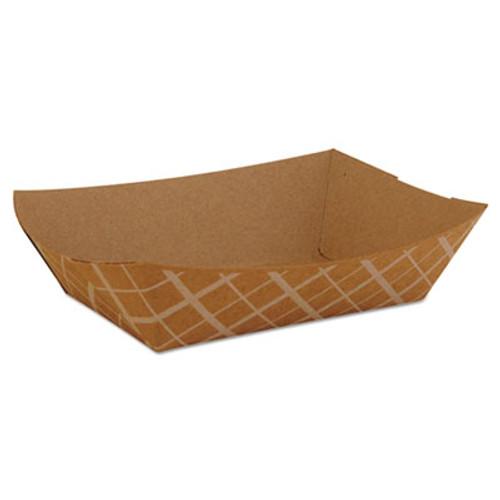 SCT Paper Food Baskets, Brown/White Check, 2 lb Capacity, 1000/Carton (SCH 0517)