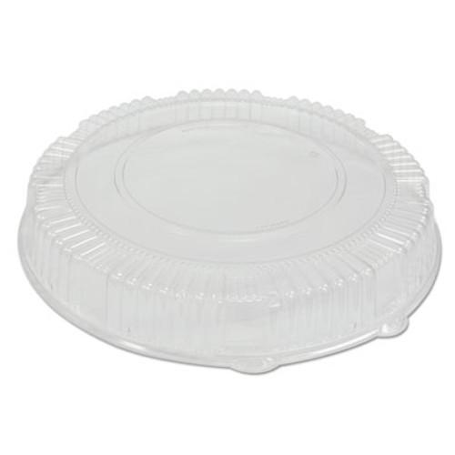 WNA Caterline Dome Lids  Plastic  16  Diameter  2 3 4  High  Clear  25 Carton (WNA A16PETDM)