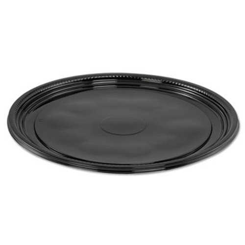 WNA Caterline Casuals Thermoformed Platters  PET  Black  12  Diameter (WNA A512PBL)