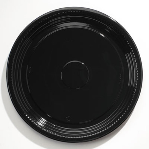 WNA Caterline Casuals Thermoformed Platters  PET  Black  18  Diameter (WNA A518PBL)