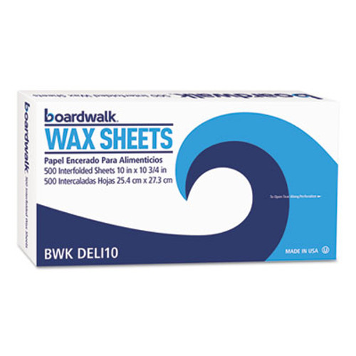 "Boardwalk Interfold-Sheet Deli Paper, 10"" x 10 3/4"", White, 500 Sheets/Box, 12 Box/Carton (BWK DELI10)"
