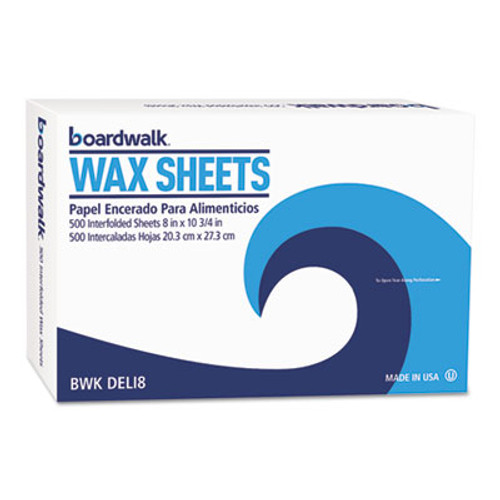 "Boardwalk Interfold-Sheet Deli Paper, 8"" x 10 3/4"", White, 500 Sheets/Box, 12 Box/Carton (BWK DELI8)"