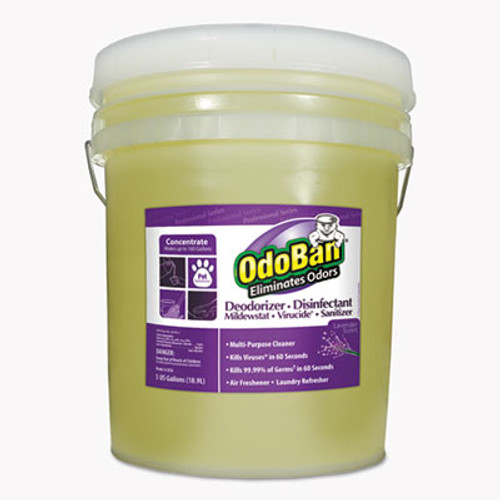OdoBan Concentrated Odor Eliminator and Disinfectant  Lavender Scent  5 gal Pail (ODO9111625G)