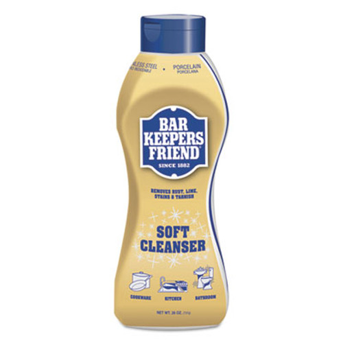 Bar Keepers Friend Soft Cleanser  26 oz Squeeze Bottle  Citrus  6 Carton (BKF11624)