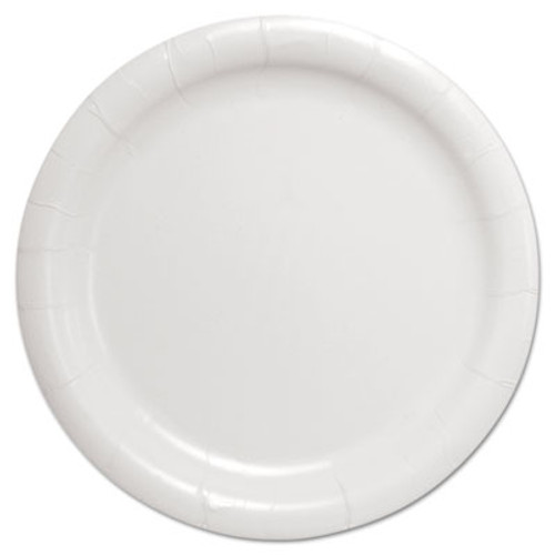 "SOLO Cup Company Bare Eco-Forward Clay-Coated Paper Dinnerware, Plate, 9"" Diameter, White (SCC HP9S)"