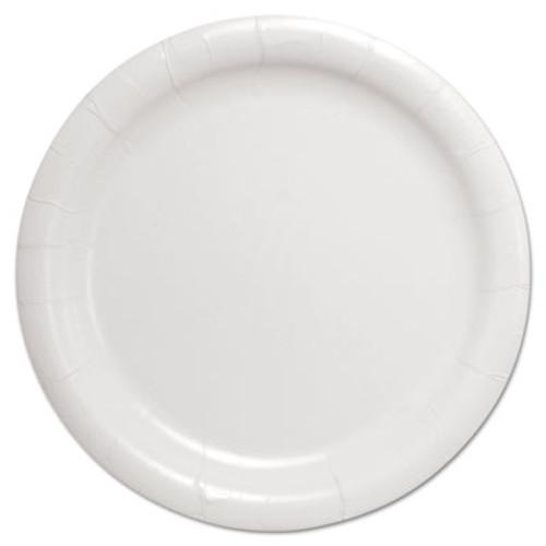 Dart Bare Eco-Forward Clay-Coated Paper Dinnerware  Plate  9  Diameter  White (SCC HP9S)