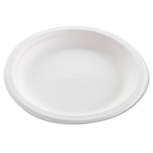Genpak Harvest Fiber Dinnerware  Plate  8 3 4  Diameter  Natural White  50 Pack  10 CT (GNP HF809)