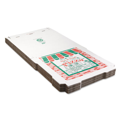 ARVCO Corrugated Pizza Boxes  Brown White  28 x 28  25 Carton (ARV9284393)