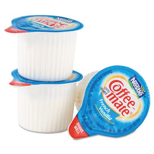 Coffee mate Liquid Coffee Creamer  French Vanilla  0 38 oz Mini Cups  50 Box (NES35170BX)