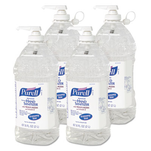 PURELL Advanced Hand Sanitizer Refreshing Gel  Clean Scent  2 L Pump Bottle (GOJ962504EA)