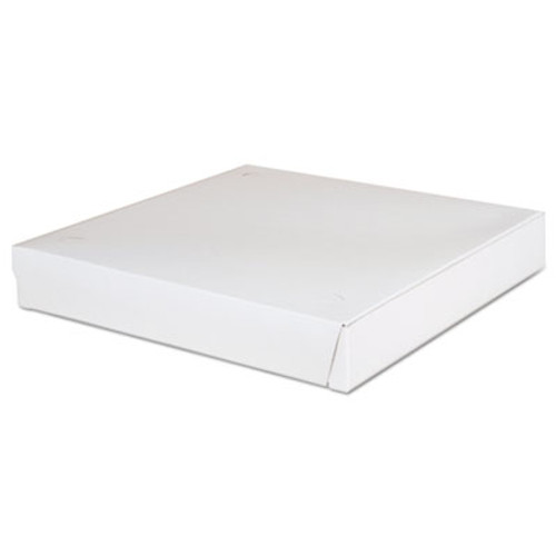 SCT Lock-Corner Pizza Boxes  12 x 12 x 1 7 8  White  100 Carton (SCH 1460)