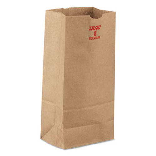 General #8 Paper Grocery, 60lb Kraft, Extra-Heavy-Duty 6 1/8x4 1/6 x12 7/16, 1000 bags (BAG GX8)