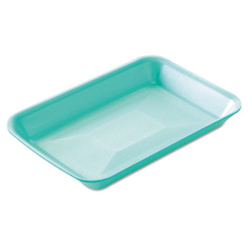 Genpak Supermarket Trays, Green, Foam, 8 1/4 x 1 x 5 3/4, 125/Bag, 4 Bags/Carton (GNP 2GN)