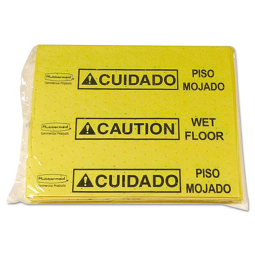Rubbermaid Commercial Over-The-Spill Pad Tablet w 25 Pads  Yellow Black 14 x 16 1 2 (RCP 4253 YEL)