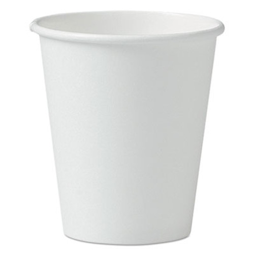 Dart Single-Sided Poly Paper Hot Cups  6oz  White  50 Pack  20 Packs Carton (SCC 376W)