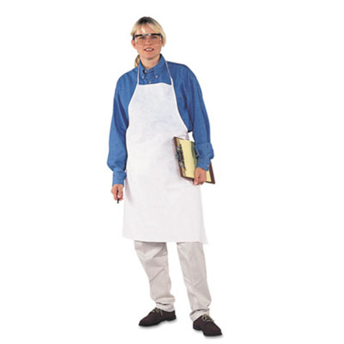 KleenGuard* A40 Liquid/Particle Protection Apron, Film Laminate, White, 28 x 40, 100/Carton (KCC 44481)