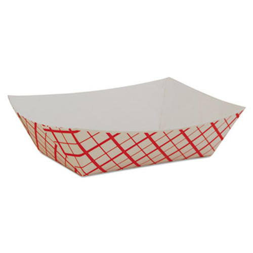 SCT Paper Food Baskets  Red White Checkerboard  1 2 lb Capacity  1000 Carton (SCH 0409)