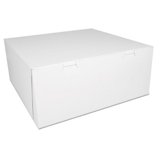SCT Bakery Boxes  White  Paperboard 14 x 14 x 6  50 Carton (SCH 0993)