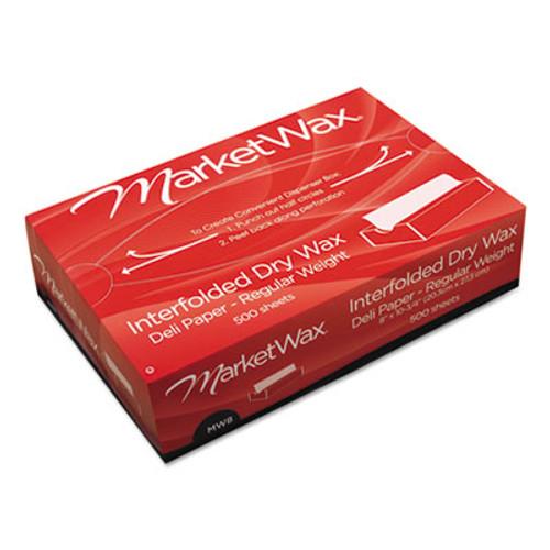 Bagcraft Interfolded Dry Wax Deli Paper  8  x 10-3 4   White  500 Box  12 Boxes Carton (BGC 011008)