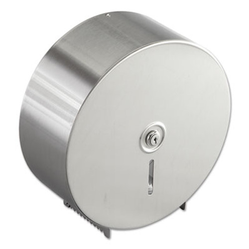 Bobrick Jumbo Toilet Tissue Dispenser  Stainless Steel  10 21 32 x 4 1 2 x 10 5 8 (BOB 2890)