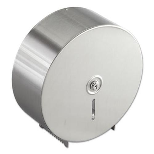 Bobrick Jumbo Toilet Tissue Dispenser  Stainless Steel  10 21 32 x 4 1 2 x 10 5 8 (BOB 2890)