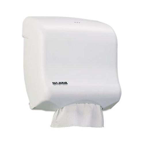 San Jamar Ultrafold Towel Dispenser for C-Fold Multifold Towels  11 5 x 6x 11 5  White (SAN T1750WH)