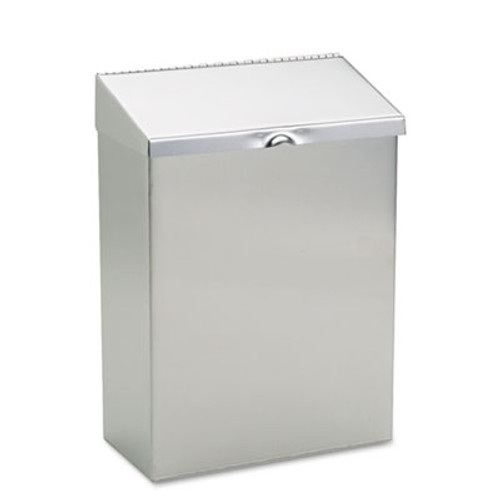 HOSPECO Wall Mount Sanitary Napkin Receptacle  Stainless Steel (HOS ND-1E)