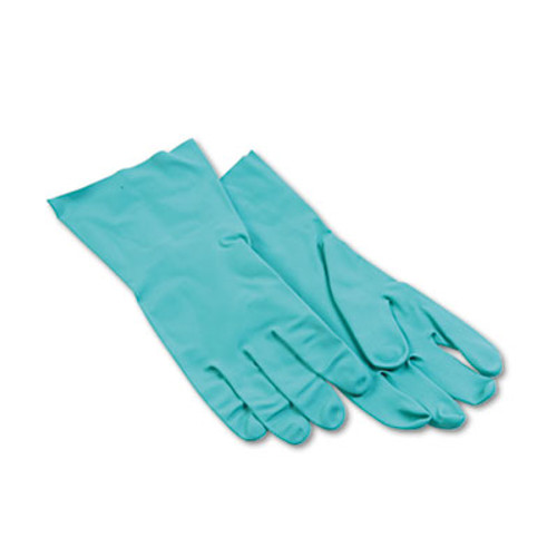 Boardwalk Nitrile Flock-Lined Gloves  Large  Green  Dozen (BWK 183L)