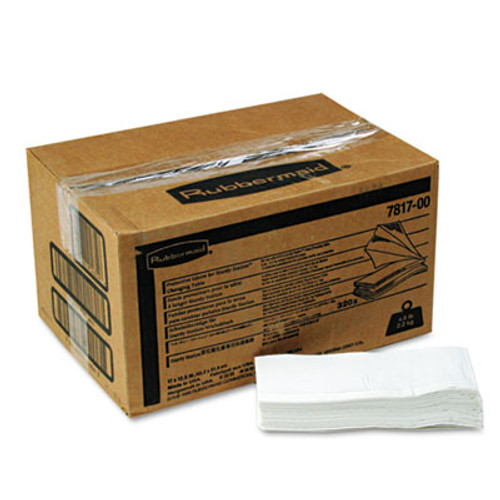 Rubbermaid Commercial Liquid Barrier Liners, 320/Carton (RCP 7817-88 WHI)