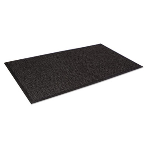 Crown Super-Soaker Wiper Mat with Gripper Bottom  Polypropylene  46 x 72  Charcoal (CRO SSR046 CHA)