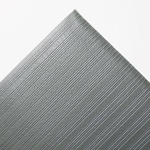 Crown Ribbed Anti-Fatigue Mat  Vinyl  36 x 60  Gray (CRO FL3660 GRA)