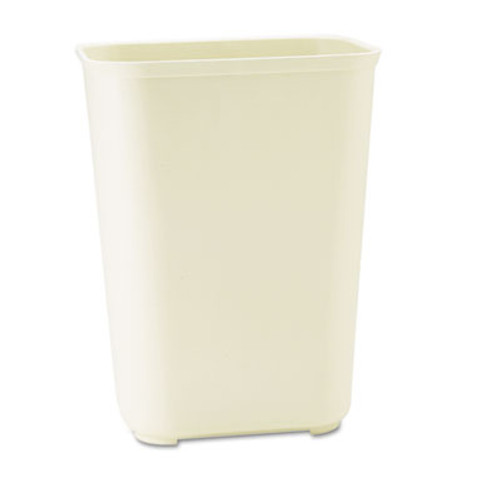 Rubbermaid Commercial Fire-Resistant Wastebasket, Rectangular, Fiberglass, 10gal, Beige (RCP 2544 BEI)