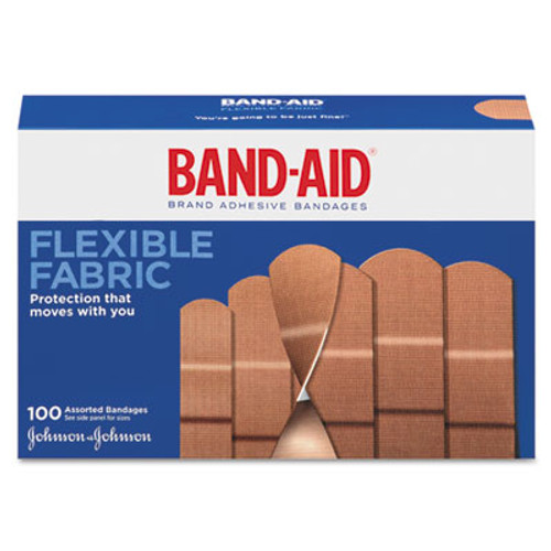 BAND-AID Flexible Fabric Adhesive Bandages  1  x 3   100 Box (JON 4444)
