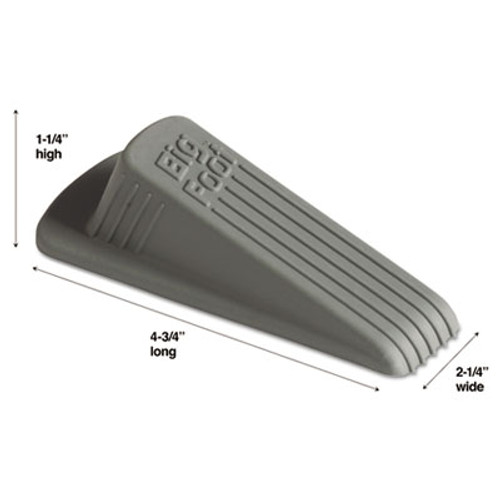 Master Caster Big Foot Doorstop  No Slip Rubber Wedge  2 25w x 4 75d x 1 25h  Gray (MST 00941)