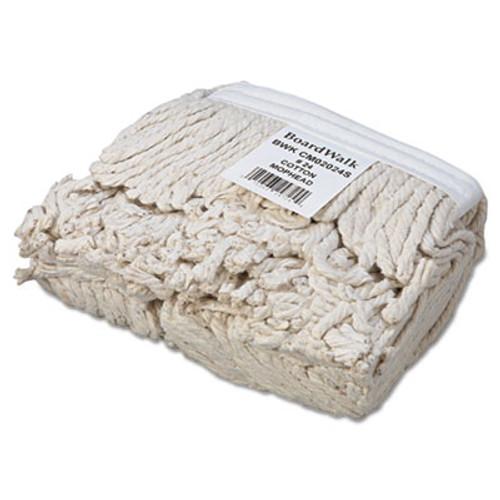 Boardwalk Banded Cotton Mop Head   24  White  12 Carton (BWK CM02024S)