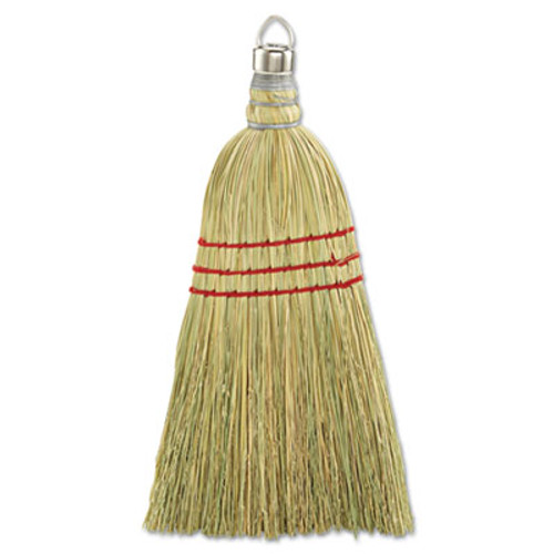 "Boardwalk Whisk Broom, Corn Fiber Bristles, 10"" Wood Handle, Yellow, 12/Carton (UNS 951WC)"