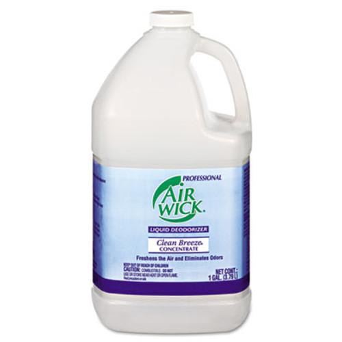 Professional Air Wick Liquid Deodorizer  Clean Breeze  1 gal  Concentrate  4 Carton (REC 06732)
