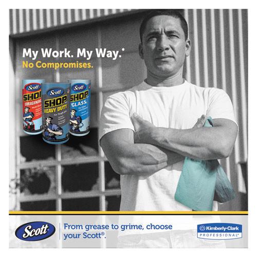 Scott Shop Towels  Standard Roll  10 4 x 11  Blue  55 Roll  30 Rolls Carton (KCC 75130)