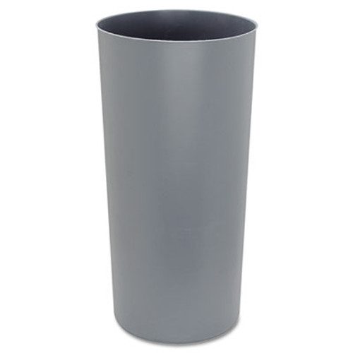 Rubbermaid Commercial Commercial Rigid Liner w/Rim, Round, Plastic, 22gal, Gray (RCP 3552 GRA)