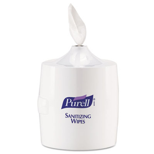 PURELL Hand Sanitizer Wipes Wall Mount Dispenser, 1200/1500 Wipe Capacity, White (GOJ 9019-01)