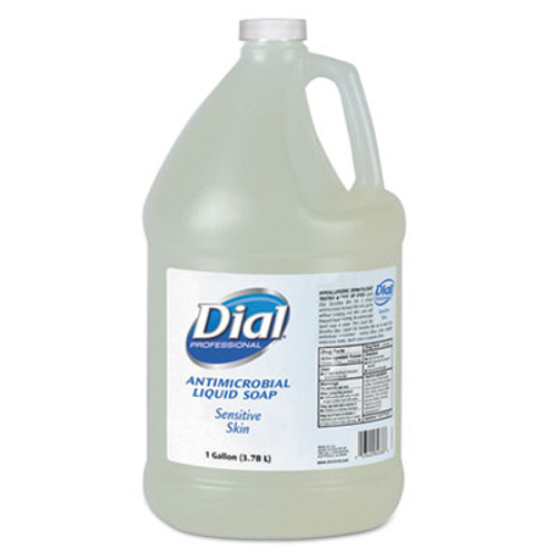Dial Professional Antimicrobial Soap for Sensitive Skin, Floral, 1gal Bottle, 4/Carton (DIA 82838)