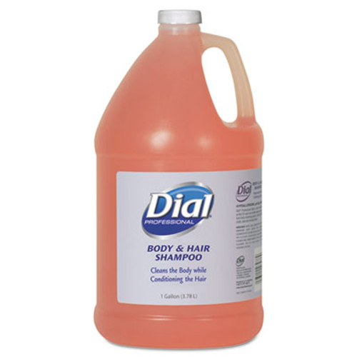 Dial Professional Body and Hair Care  1 gal Bottle  Gender-Neutral Peach Scent  4 Carton (DIA 03986)