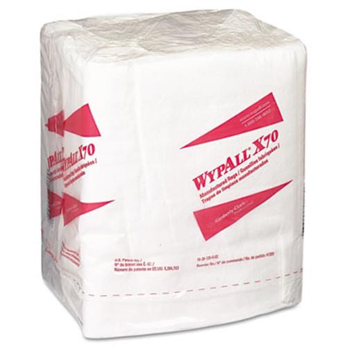 WypAll X70 Cloths  1 4 Fold  12 1 2 x 12  White  76 Pack  12 Packs Carton (KCC 41200)