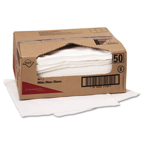 WypAll* X70 Wipers, Flat Sheet, 9 x 16 3/5, White, 300/Carton (KCC 41100)