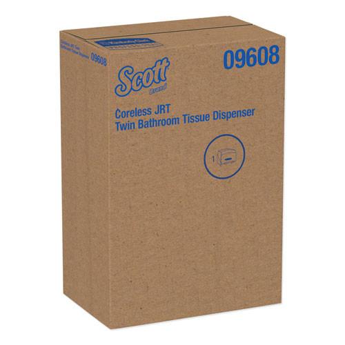 Scott Essential Coreless Twin Jumbo Roll Tissue Dispenser  20 x 6 x 11  Black (KCC 09608)
