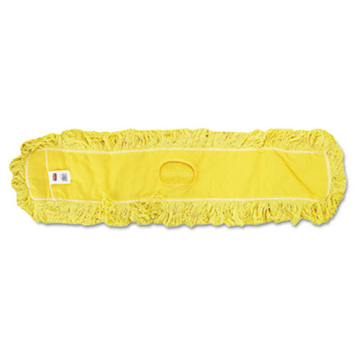 Rubbermaid Commercial Trapper Commercial Dust Mop  Looped-end Launderable  5  x 48   Yellow (RCP J157)