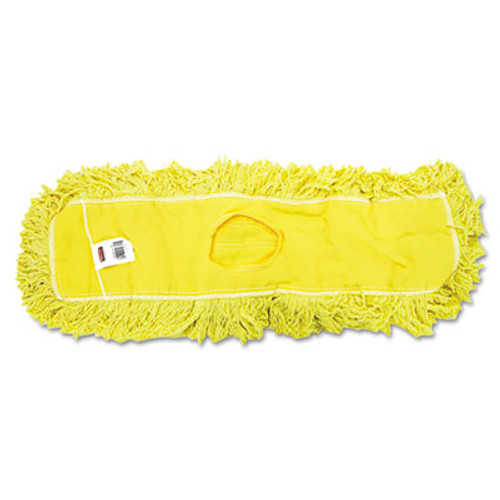Rubbermaid Commercial Trapper Commercial Dust Mop  Looped-end Launderable  5  x 24   Yellow (RCP J153)