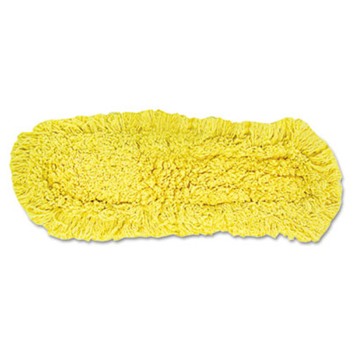 Rubbermaid Commercial Trapper Commercial Dust Mop  Looped-end Launderable  5  x 18   Yellow (RCP J152)